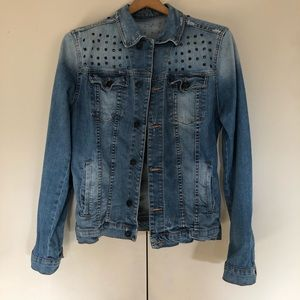 Zara Denim vintage studded Jean Jacket M